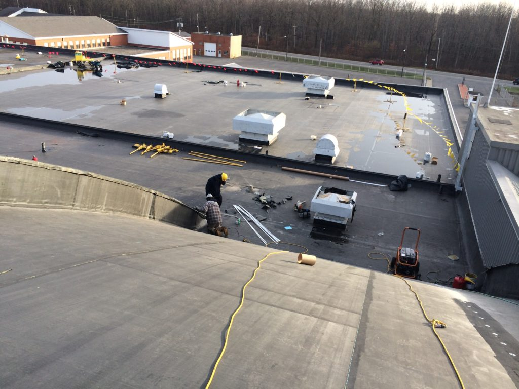 commercial roofing curved roof